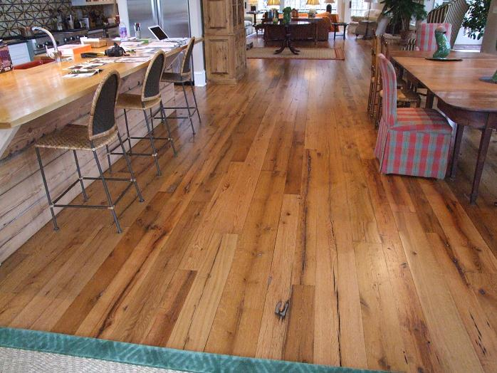 Wide plank flooring antique wood floors old recycled for Salvaged wood flooring